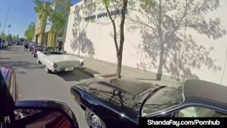 Vintage Cougar Shanda Fay Sucks A Hard Cock After A CarShow!