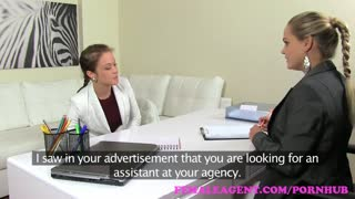 FemaleAgent. Gorgeous lesbian will do anything for sexy MILF agent