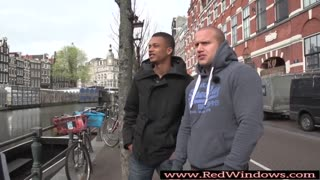 Amsterdam slut fucked outdoors after sucking