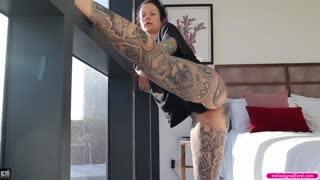 Big TIT Big ASS Tattooed Natural Face TEEN Milf Fucked Hard Against the Window - Melody Radford