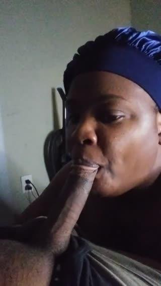 Ebony Bonnet wakes husband up by sucking his Dick!!!