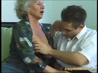fucks a busty grandma