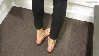 Veiny feet walking # 2