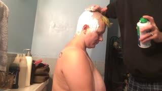 Bald girl razor cream chelseacut