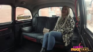 Female Fake Taxi Lesbians admire each others beautiful big boobs