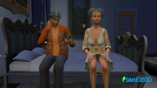 Sims 4 - Old people also know how to relax