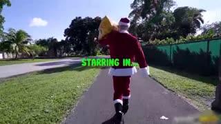 掏出肉棒的圣诞老人