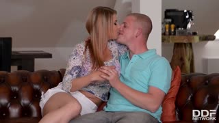 Hot Czech chick Mea Melone fucked and DP'ed hardcore by three huge dicks