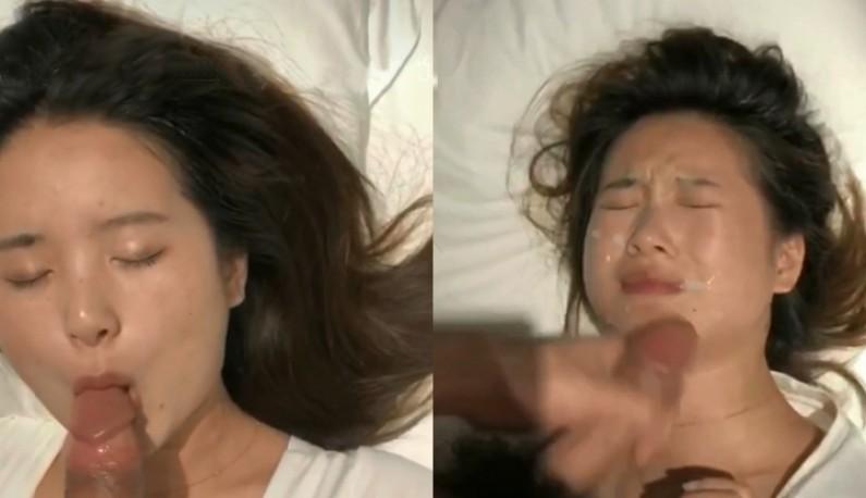 细腰丰臀萌妹子喝得醉醺醺,任凭口交抽插都不醒,只好射她一脸让她清醒清醒~