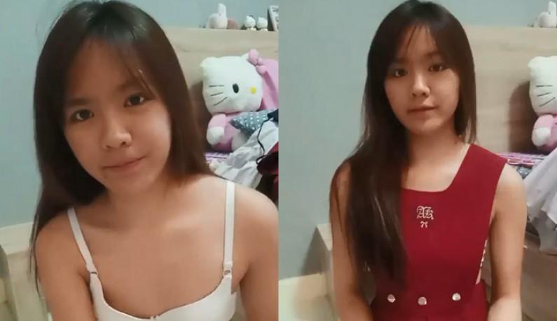 [东南亚] 清纯妹妹和学长开视讯裸聊~还换不同的衣服给学长看~