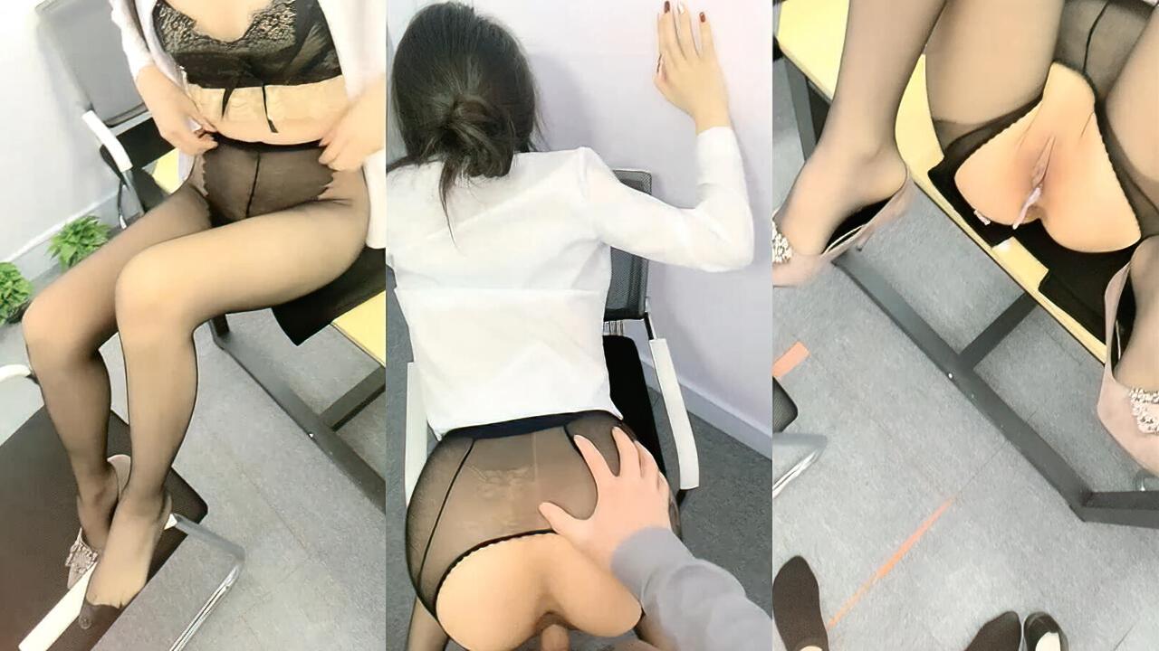 Avove 办公室穿着黑丝被内射